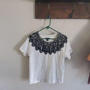 Gap short sleeved lace detail shirt
